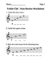 treblecleff treble clef note naming worksheet by rsklar teachers pay teachers