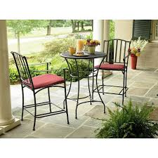 black wrought iron patio furniture. amazoncom wrought iron 3 pc bistro set table and two chairs with weather resistant red cushions outdoor patio furniture sets lawn u0026 garden black t