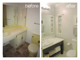 Small Picture Remodeled Small Bathrooms Before And After