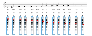 Melodica Chords Chart Melodica Notes Fingering Chart