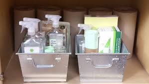 Under Kitchen Sink Organizing Video Dedicate A Cabinet To Pet Supplies Martha Stewart