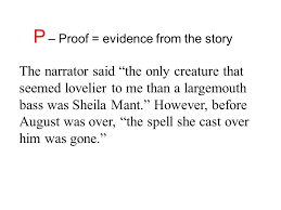 the bass the river and sheila mant oer questions ppt video  p proof evidence from the story