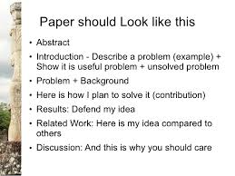 on research and writing research papers paper should look like this ○ abstract