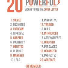 20 Powerful Words To Use In A Resume Imgur Resume Power Words