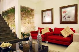 awesome living room with brown white sofa color red rug