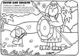 Small Picture David And Goliath Coloring Pages Picture Free Printable Jobspapa
