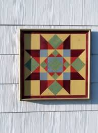 Barn quilt on wood for the side of the garage | Outdoor Projects ... & Handmade White Pine barn quilt. This is a White Pine barn quilt handcrafted  in my Adamdwight.com