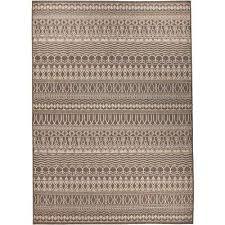 washable cadiz espresso 5 ft x 7 ft stain resistant area rug