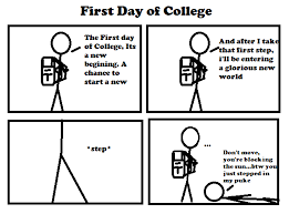 first day of college by bic comics on  first day of college by bic comics