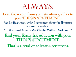 essay introductions attention grabbers ppt  always end your essay introduction your thesis statement