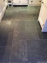 Slate For Kitchen Floor Dull Slate Tiled Kitchen Floor Restored In Henley On Thames
