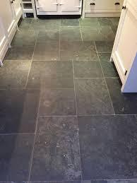 slate tiled floor before cleaning henley on thames