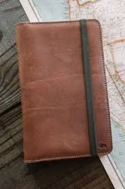 dakota leather journal cover ipad mini case chestnut brown