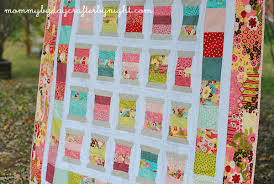 Mommy by day Crafter by night: Scrappy Spools Quilt & I used a Moda Sophie layer cake for the