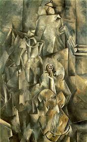 Georges Braque. Violino e Jarro, 1910. Óleo sobre tela. Paris, FRA