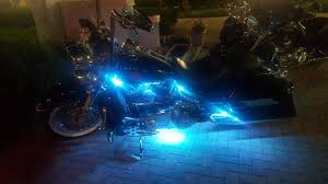 Where To Place Led Lights On Motorcycle 12 Pcs Motorcycle Led Light Kit Strips With Bluetooth Remote