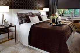 Jane Lockhart Chocolate Brown/White Bedroom modern-bedroom