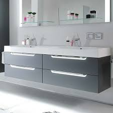 solitaire 7020 4 drawer wall hung double bathroom vanity unit