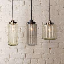 glass jar pendant lights from westelm