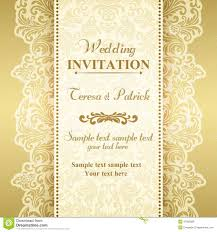 Baroque Wedding Invitations Baroque Wedding Invitation Gold And Beige Stock Vector
