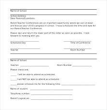 parent teacher conference letters template parent teacher conference letter template from preschool