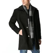 woolen mid long trench coat