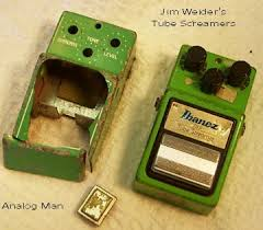 king of tone jim had been using an original ts 808 for well over 20 years it s now housed in a 1980s ts9 case after rick danko stepped on it at a concert that the band