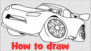 lightning mcqueen drawing. Delighful Drawing How To Draw Lightning McQueen From Cars 3 Step By On Mcqueen Drawing O