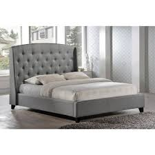 luxeo laguna gray king upholstered bedluxkgry  the home depot