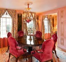 velvet dining room chairs. Amazing Formal Dining Rooms With Red Velvet Chairs And Round Gallery Including Pictures Wooden Table Chandelier Room N