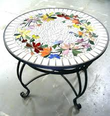 diy tile table top outdoor mosaic table medium size of decorating mosaic round table top designs