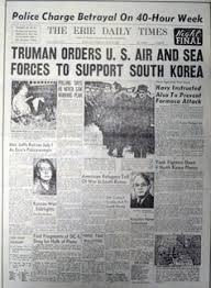「1950, truman declared war against korea」の画像検索結果