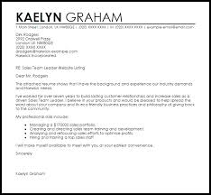 sales team leader cover letter sales team leader cover letter sample livecareer