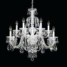 schonbek crystal chandelier vintage crystal 6 arm chandelier