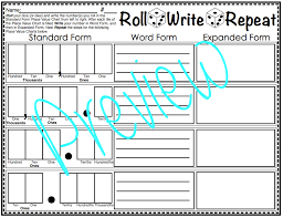 Expanded Form Chart Roll Write Repeat Place Value Dice Game Decimal Expanded Form