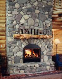 wood see through fireplace