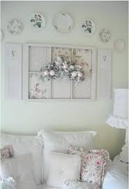 Shabby Chic Wall Decor Chic Wall Decor Old Window And Plates On The Wall  Shab Chic