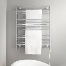 The Bergama Liquid-Filled Towel Warmer mounts directly to your wall and  will Plug-Into an existing outlet.917332Signature Hardware