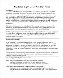 Sample Teacher Lesson Plan Template Classy English Lesson Plan Example PlanBee