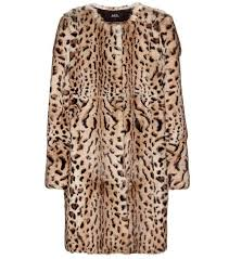 a p c leopard print rabbit fur coat