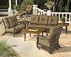 patio furniture sets patio furniture brown gold foam chair sets with wooden