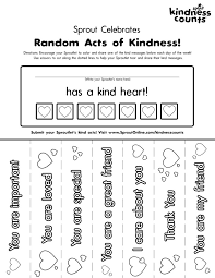 Small Picture Random Acts Of Kindness Coloring Pages