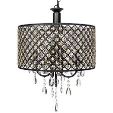 best choice s 4 light modern contemporary crystal round pendant chandelier w classic antique