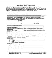 Standard Rental Agreement Template Rental And Lease Agreement Template All Form Templates