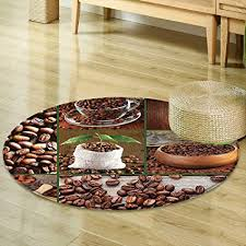 Wooden Living Room Cool Amazon Mikihome Round Rugs For Bedroom Brown Collage Of Coffee