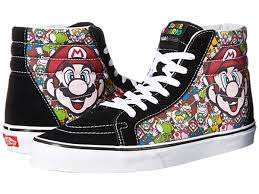 vans nintendo shoes. new arrival vans nintendo mario \u0026 luigi/true white skate shoes for men - sk8-hi reissue x on sale