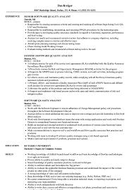 Software Quality Analyst Resume Samples Velvet Jobs