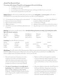 animal farm test review sheet