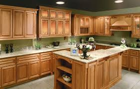 Oak Kitchen Cabinets And Wall Color Stained Wood Cabinets Natural White Paint Cabinet Colors Wonderful