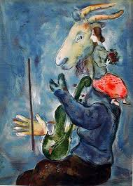 chagall was long interested in and considered the subject in painting scenery the paris opera house ceiling paintings and backdrops for lincoln